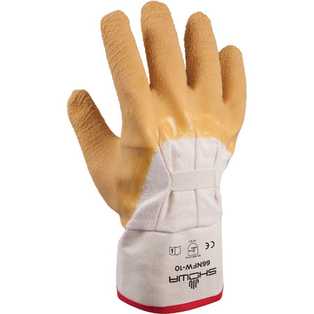 SHOWA 66NFW Palm-Coated Gloves, Natural Rubber Latex, LargeSHOWA 66NFW Palm-Coated Gloves, Natural Rubber Latex, LargeSHOWA