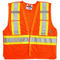 Viking® 5 Point Tear Away Safety Vest, Polyester,