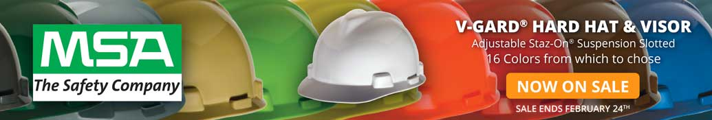 MSA V Gard Hard Hats And Accessories On Sale