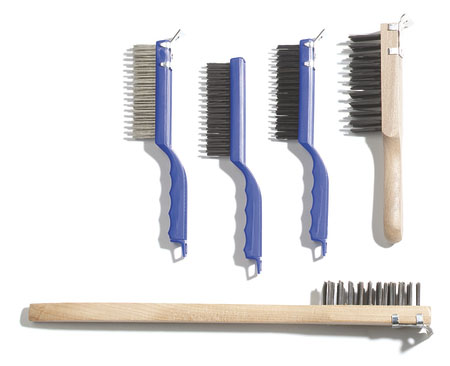 5-1//2 Bristle Area Length 1-1//4-Long Stainless Steel Bristles Carlisle 4067200 Sparta Scratch Brush with Scraper 11-1//2 Overall Length Plastic Handle