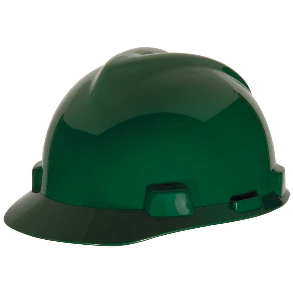 1e8c258d0d3 MSA V-Gard® Hard Hat Adjustable Staz-On® Suspension Slotted