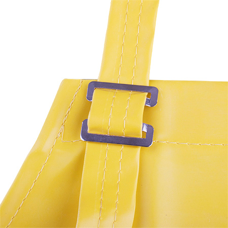 Custom Medical 440540 Yellow Nitrile Apron with Belly Patch