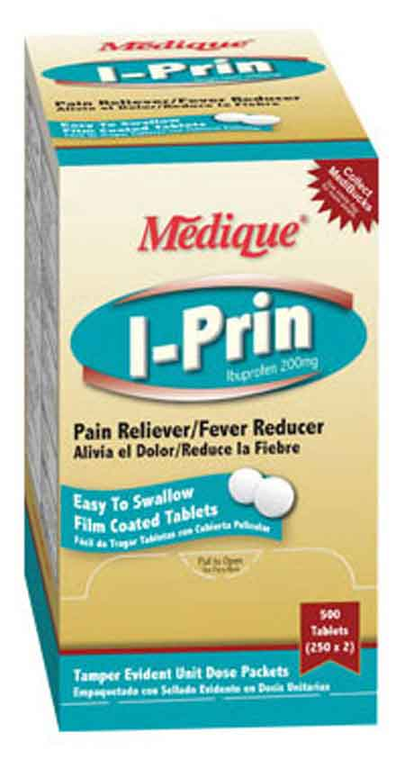I-Prin Ibuprofen Pain Relief 200mg Tablets Medique® 10013I-Prin Ibuprofen Pain Relief 200mg Tablets Medique® 10013I-Prin