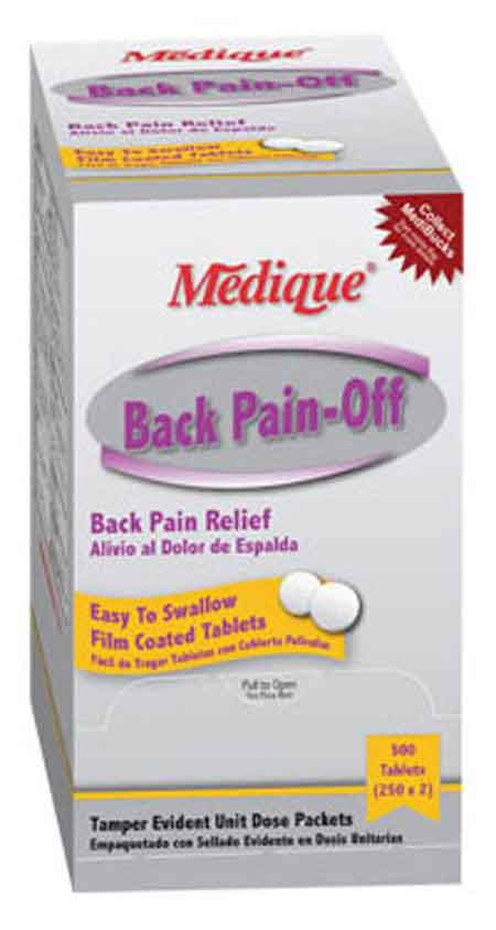 Medique 07313 Back Pain Relief Tablets, 250 dose
