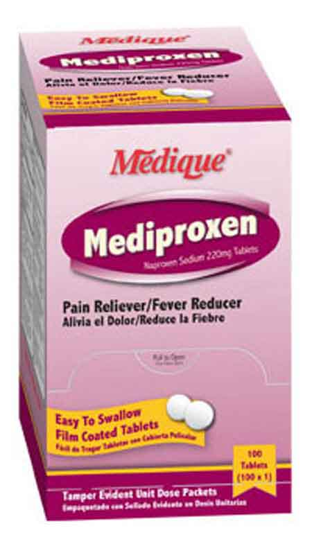 Mediproxen Naproxen Sodium Tablets 220mg Medique 23733
