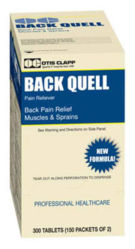 Otis Clapp 1615587 Back Quell Pain Relief Tabs,