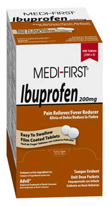 Individually Packaged Medi-First Ibuprofen Tablets Medique® 80848