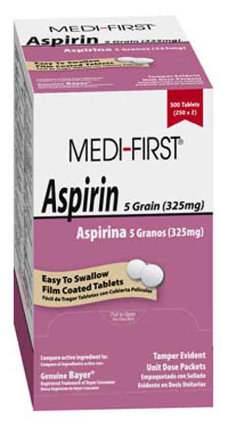 Medique Products® Medi-First® Aspirin 325mg Tablets