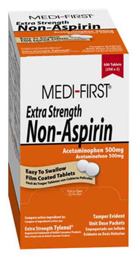 Medique® Medi-First® 80433 Extra Strength Non-Aspirin Tablets, 50 dose packsMedique® Medi-First® 80433 Extra Strength Non-Aspirin Tablets, 50