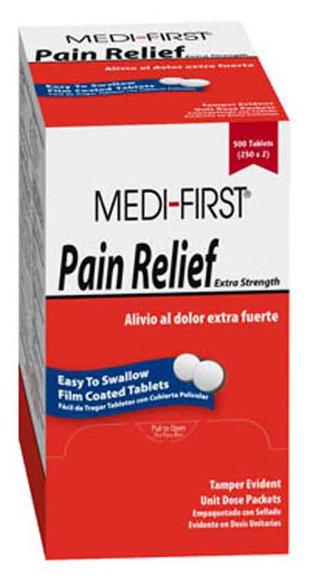 Medique® Medi-First® 81148 Medi-First Pain Relief Tablets, 125 dose packsMedique® Medi-First® 81148 Medi-First Pain Relief Tablets, 125