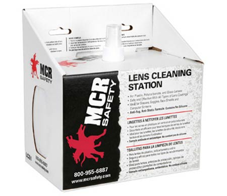 MCR Safety Lens Cleaning Station, Solution and Tissue, Pump SprayMCR Safety Lens Cleaning Station, Solution and Tissue,