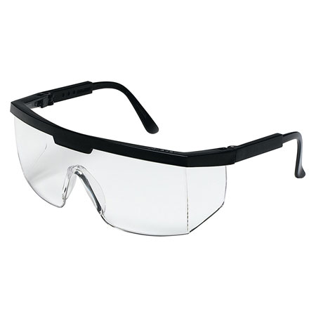 MCR Safety 99910 Excalibur Safety Glasses, Black Nylon
