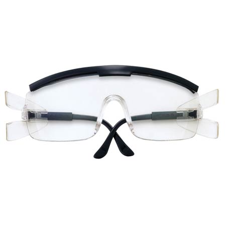 MCR Safety ZX910 ZX Safety Glasses, Plus-Black Frame,
