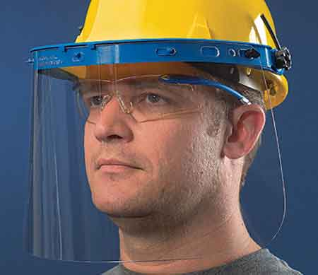 Polycarbonate Clear Face Shield Visor Crews MCR Safety 181540Polycarbonate Clear Face Shield Visor Crews MCR Safety