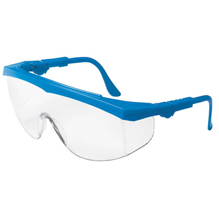 MCR Safety TK120 Tomahawk Safety Glasses, Blue Frame