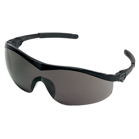 MCR Safety ST112 Storm Safety Glasses, Gray Lens,
