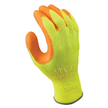 SHOWA 317, General Purpose Gloves, Natural Rubber, Hi-Viz
