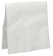 Pacific Blue® 21481 Dinner Napkin, White, 2-Ply, 1/8