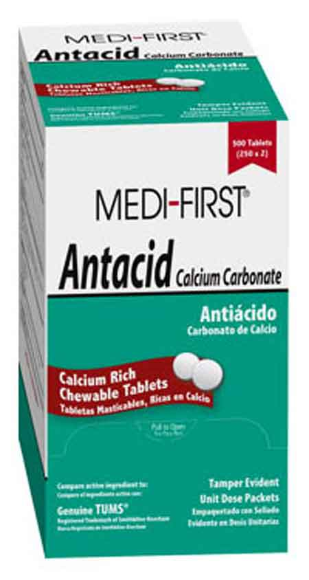 Calcium Carbonate Antacid Tablets Chewable Medique® 80213
