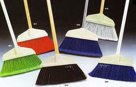 Bruske Poly Cap Broom, Synthetic, Plastic, Flagged Bristles,
