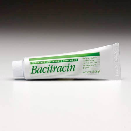 Antibiotic Ointment, 1 oz, Tube, Bacitracin, Mineral Oil