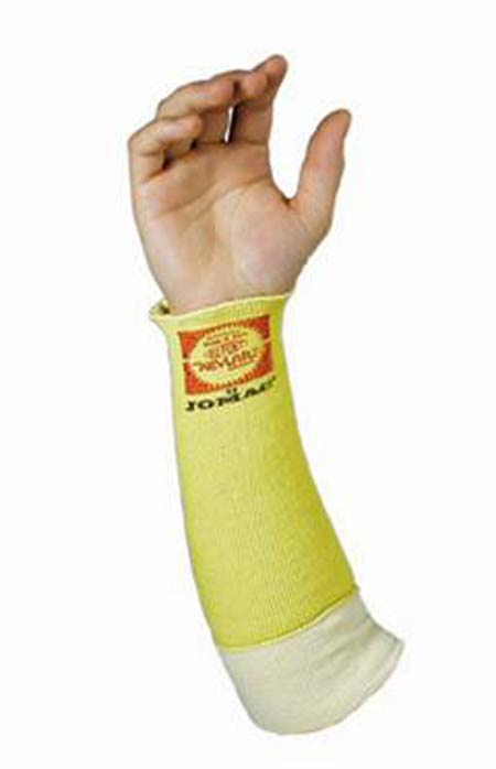 "Yellow Kevlar Sleeve 14"" No Thumb Hole Cotton"