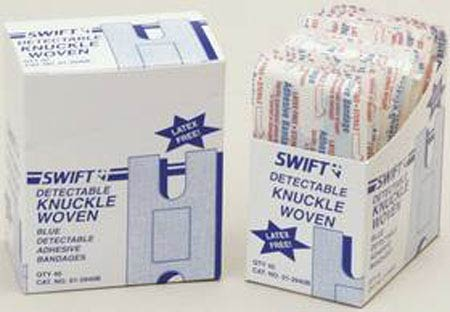 Swift Knuckle Woven Adhesive Bandage, Detectable, 40/box