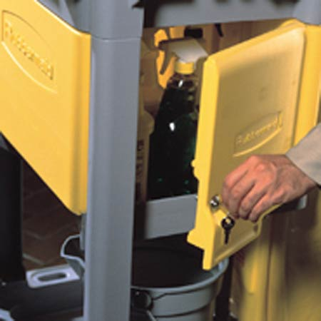 Rubbermaid Janitor Cart Locking Cabinet Yellow 618100