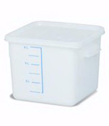 Rubbermaid FG9F0500WHT Square Storage Container 6 Quart