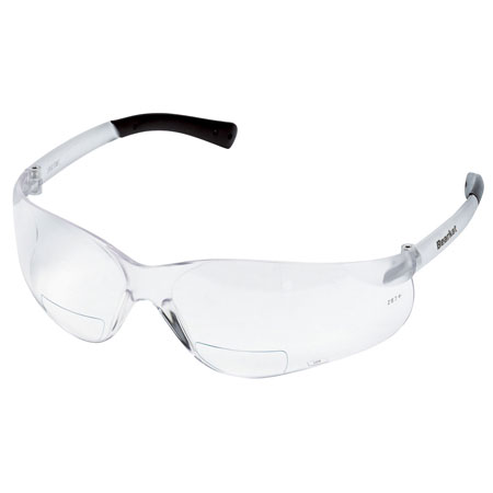 MCR Safety BKH25 BearKat Magnifying Safety Glasses, Clear