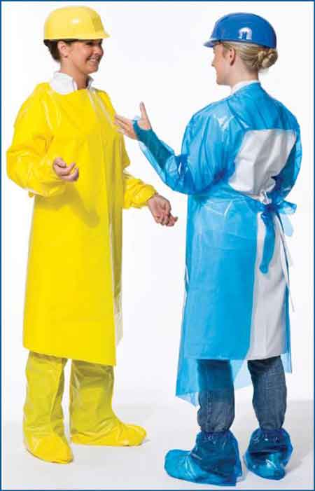 VR™, VR Gown, Vinyl, Yellow, 50 in, 4 mil, LargeVR™, VR Gown, Vinyl, Yellow, 50 in, 4
