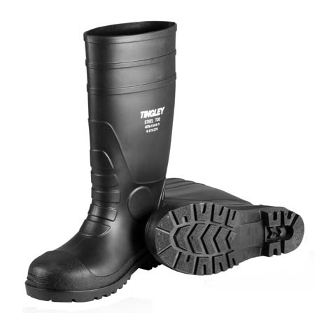 Tingley® 31251 Pilot™ PVC Black Steel Toe Boots