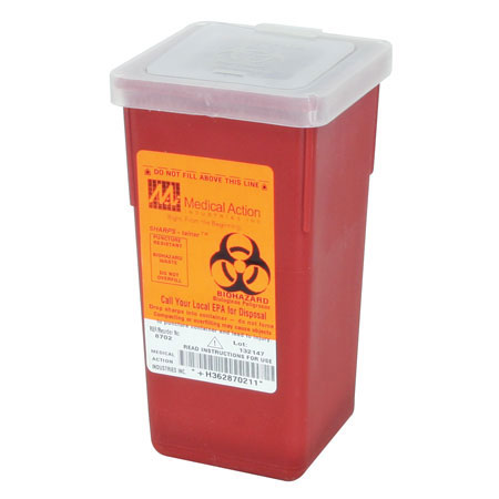 "Honeywell 378702 Sharps Container, Red, 7"" H X"