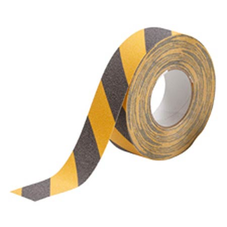 Striped Anti-Skid Tape, Black / Yellow, 60 ft,