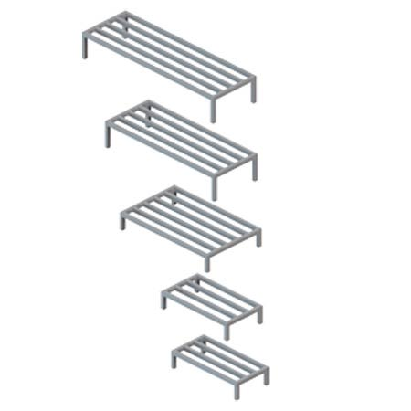 Dunnage Rack, Aluminum, 12 in