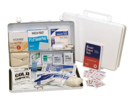 Industrial First Aid Kit Plastic 50 Person Medi-First
