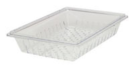 rubbermaid fg330300clr clear tray 26 x 18inch view larger - Rubbermaid Tubs