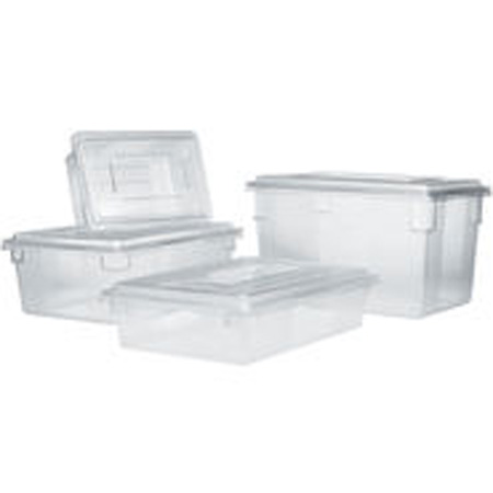 Rubbermaid FG330100CLR Clear FoodTote Box 22 12 Gallon