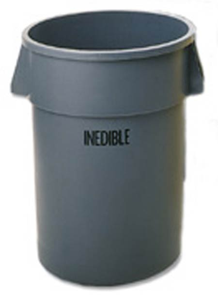 Rubbermaid Brute Container with Inedible Imprint, 20-Gallon