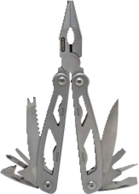 Multi-Tool, Stainless Steel, 6-1/2 in, Long Nose Pliers,