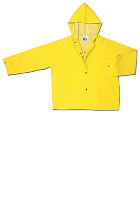 Rain Jacket, Neoprene / Nylon, Yellow, Snap Storm