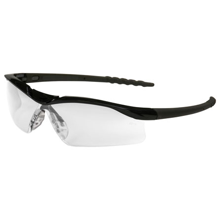 MCR Safety DL110AF Dallas Safety Glasses, Black Frame