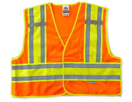 GloWear®, High Visibility Public Safety Vest, Polyester Mesh,