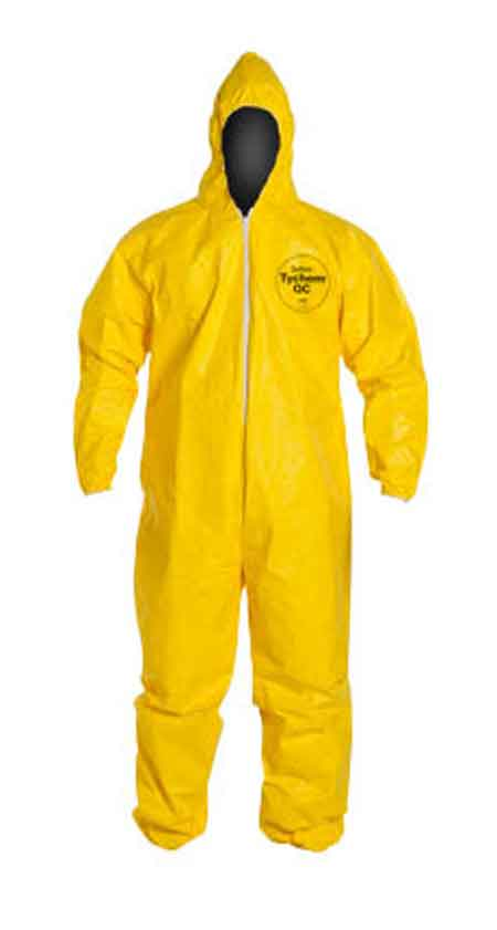 DuPont™ Tychem® 2000 Coverall with Hood Yellow Elastic