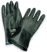 North® B174R Unsupported Gloves, Butyl, Black