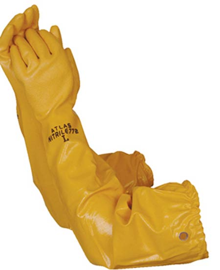 Showa® Atlas® 772 Nitrile Chemical Resistant Gloves Yellow