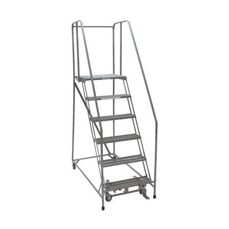 Sensational Rolling Platform Ladder Bauer 41012 Steel 350 Lb Capacity 6 Squirreltailoven Fun Painted Chair Ideas Images Squirreltailovenorg