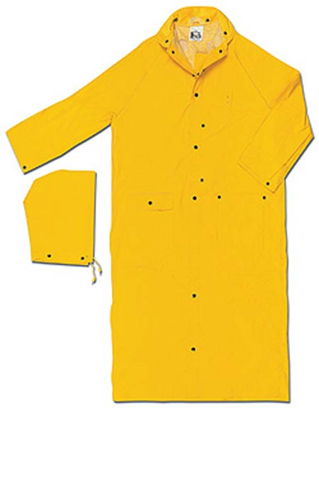 Rain Coat, PVC / Polyester, Yellow, Snap Storm