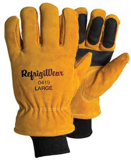 Refrigiwear® 0419R Double Insulated Cowhide Leather Gloves