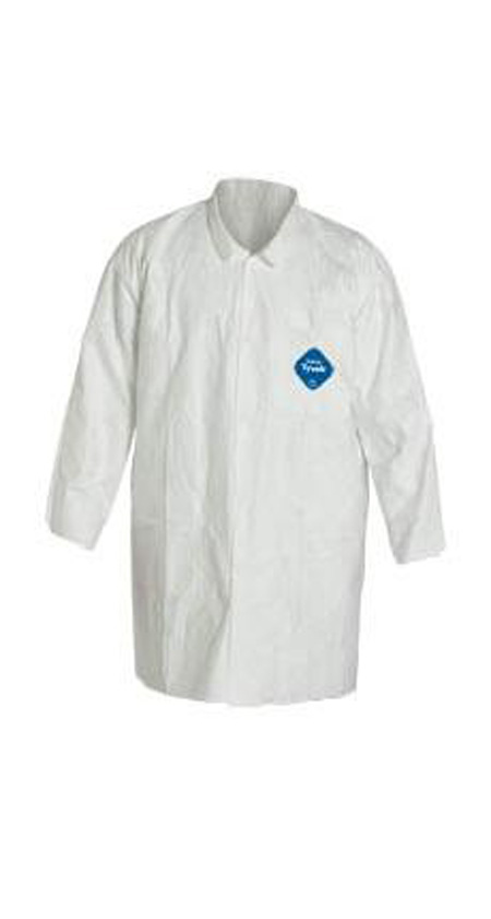 DuPont™ Tyvek® TY212S Lab Coat Frock with Snap